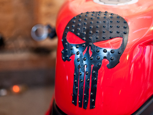 Custom tank protector for Ducati - Punisher