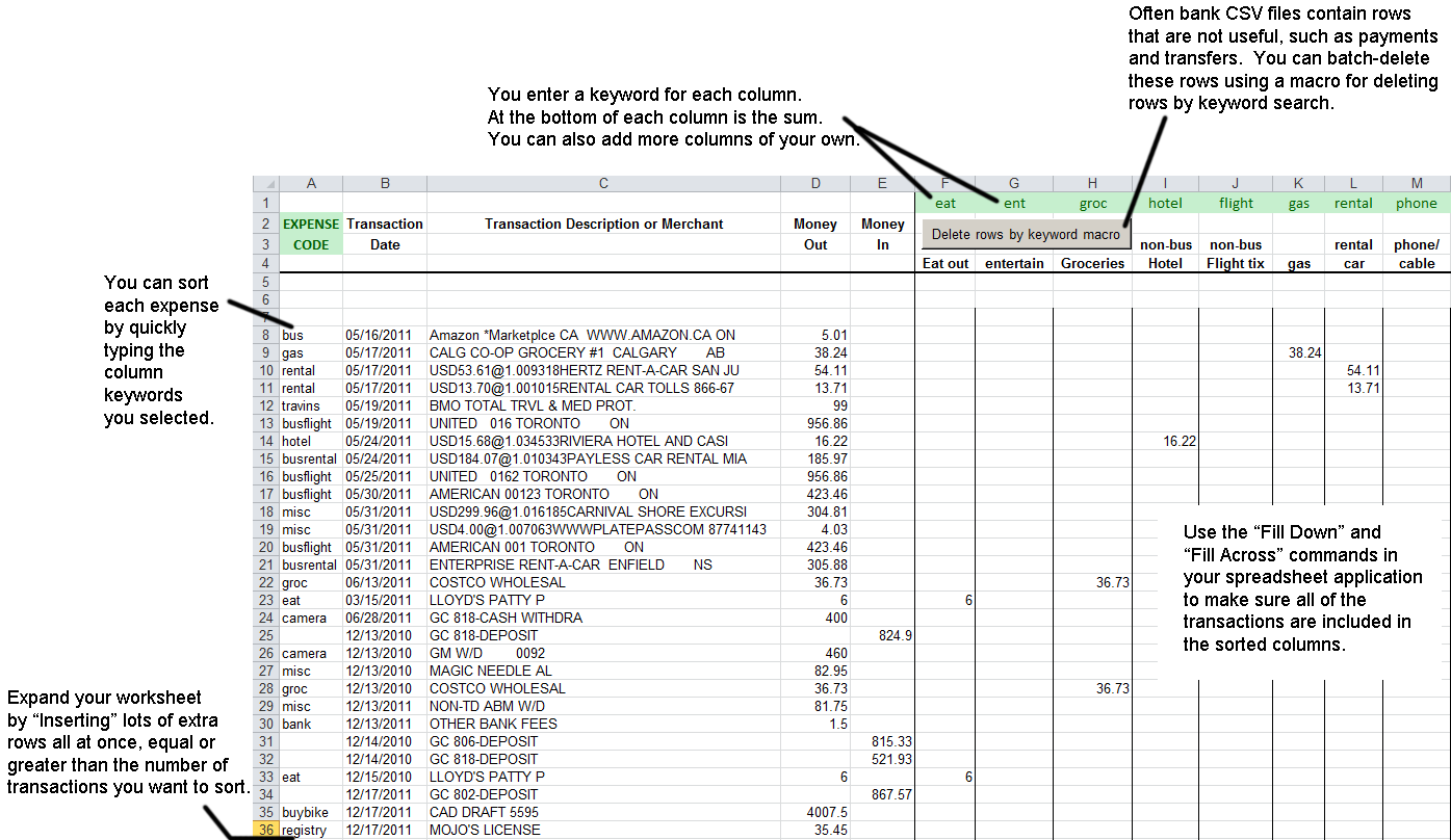 spreadsheet template for small business expenses and tax